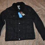 Новая демисезонная джинсовая курточка на меху Rebel 13 лет рост 158