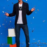 Мужской пиджак LC Waikiki / Лс Вайкики синий с 3-мя внешними карманами и внутренним карманом