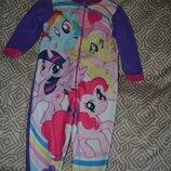 Флисовая пижама little pony на 3 года рост 98 оригинал
