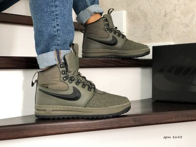 Зимние кроссовки Nike Lunar Force 1 Duckboot темно зеленый