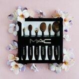 Набор кистей-щеток для макияжа от M.A.C. для тональной основы, консиллера, пудры, румян