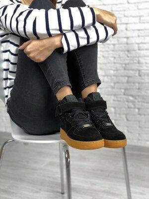 Зимние женские кроссовки Nike Air Force Fur   36-44.