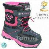 Термоботинки на девочку том.м р27-32 зимние ботинки сапожки tom.m чоботи на дівчину зимові 30 31 32