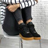 Зимние женские кроссовки Nike Air Force Fur | 36-44.