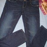 джинсы джинси женские молодежные размер 44/10 стрейчевые стрейч скинни