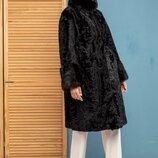 В наличии Шикарная шуба норка пальто каракульча Италия новая модель 2019-2020
