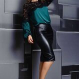 Красивые блузки с кружевом, цвета, до 60-го размера