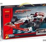Конструктор Decool 3366 Гоночный автомобиль Гран-При 2в1. Техник аналог Lego Technic 42000