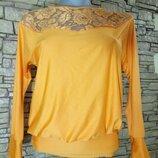 Цена снижена временно оранжевая,канареечная блуза,цвет искажается