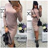 Теплое ангоровое платье-гольф длина миди Crystall норма арт.859 скл.10