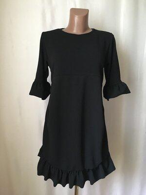 Черное платье миди с воланами Boohoo 44-M