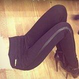 Шикарные женские лосины леггинсы с кожаными вставками Лотос скл.10 арт.121