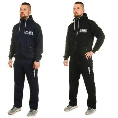 Теплый мужской спортивный костюм | Черный, синий | 50, 52, 56