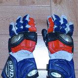 Мотоперчатки Трековые кожаные перчатки с усиленными вставками Spidi carbotech