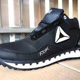 Мужские кожаные зимние ботинки кроссовки 40 - 45 р-р