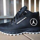 Мужские кожаные зимние спортивные ботинки, кроссовки 40 - 45 р-р