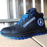 Мужские кожаные зимние ботинки, кроссовки 40 - 45 р-р