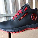 Мужские кожаные зимние кроссовки ботинки 40 - 45 р-р