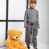 Теплые брюки джогеры -98-128 см