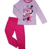 Хлопковая пижама Disney Минни Маус для девочки р.104-128