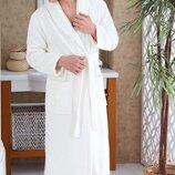 Махровый халат кремовый 100% хлопок