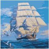 Картина по номерам Идейка. Морской пейзаж На всех парусах 40 40 KHO2708