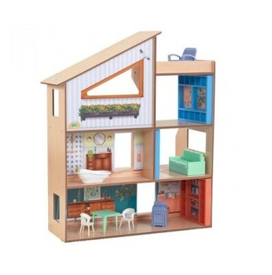 KidKraft Кукольный деревянный домик особняк 65990 Hazel City Life Mansion Dollhouse