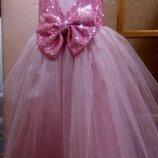 Шикарное платье выпускное нарядное пышное детское