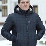 Мужская Зимняя куртка строчка квадрат. Размеры 46,48,50,52.
