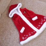 Фирменное новогоднее платье 0-9мес