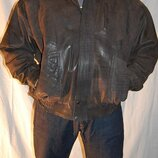 Куртка кожаная YAK р.XXL р.XXXL Genuine Exotic Yak Leather original ENGLAND