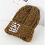 Зимняя шапка для девочки р.48-53