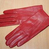 Кожаные красные перчатки marks&spencer разм s
