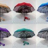 Женский зонт полуавтомат капли 3D и узором изнутри 588 от фирмы Mario .