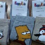 Махровые детские носки зимние 7-9 лет