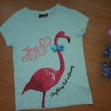 Стильная футболка девочке 7-8 лет