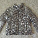 Серебряная куртка ZARA р.152 для девочки 11-12 лет