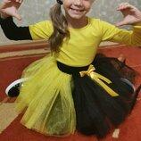 Нарядный костюм на девочку праздничный наряд с фатиновой юбкой Детский