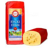 Сыр твердый Rycki Edam Рики Ryki Едам 1кг Польша