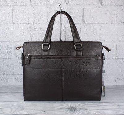 Сумка мужская для документов, портфель giorgio armani 6618-3 кофе, 38 29 8 см