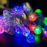 гирлянда 40 LED шариков пластик мультицвет plastic-м-3 5 метров