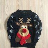Новогодний джемпер, свитер George р 5-6 лет