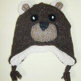 Теплая шапка медвежонок m&s 2-4 года