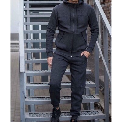 Костюм спортивный мужской теплый PM 8330-26 серый