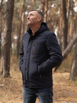 50-58 Демисезонная мужская куртка. Куртка мужская осень. весна. Куртка с капюшоном