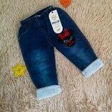 Теплые джинсы Мини