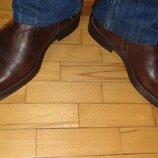 Кожание фирменние стильние ботинки сапоги Италия ..42 .