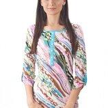 Фирменная стильная блуза, кофточка. Натуральный состав. Есть большие размеры до 3XL.