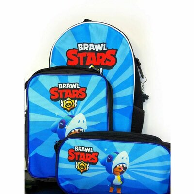 Набор школьный, для школы. Рюкзак, пенал, сумка с героями Brawl Stars бравл старс