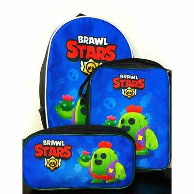 Набор школьный, для школы. Рюкзак, пенал, сумка с героями Brawl Stars бравл старс Леон, Ворон и т.д.